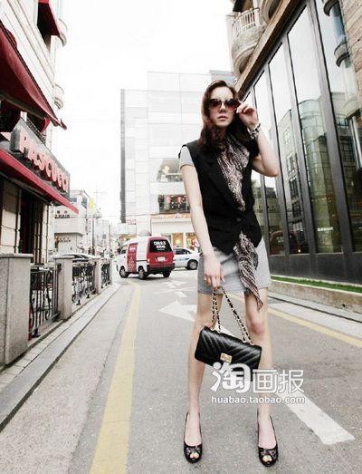 韩国小资女春装 20款时尚出街装