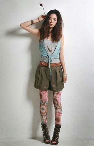 学摇滚女孩穿衣 摇滚女郎酷范儿